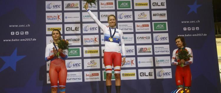 EM-guld til Trine Schmidt i pointløb